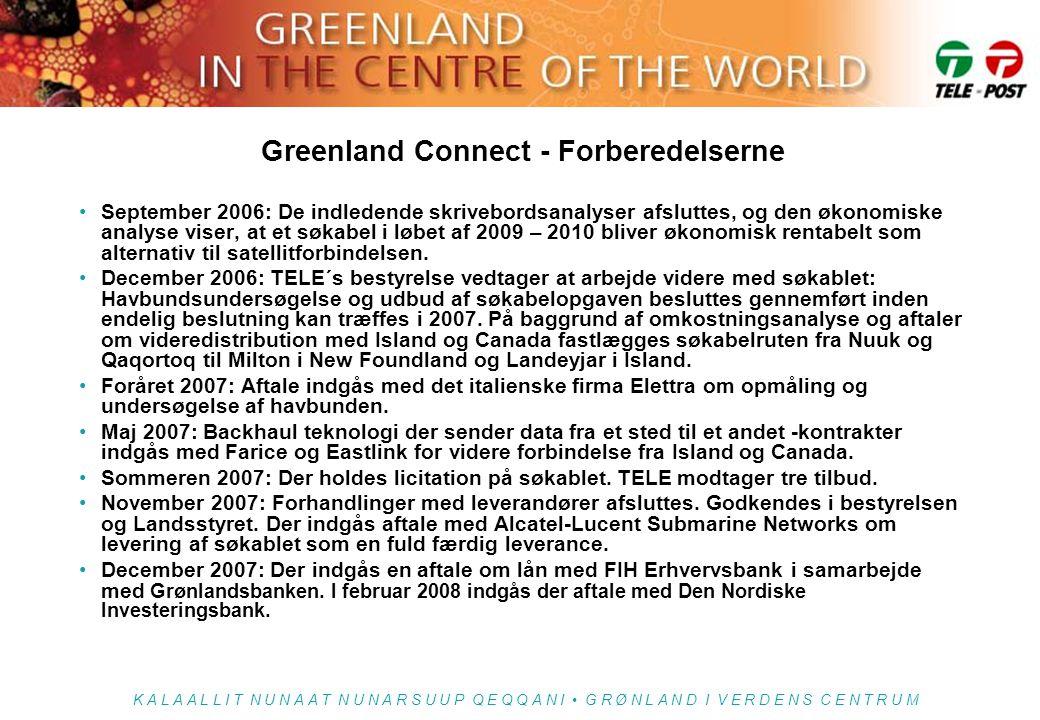 Greenland Connect - Forberedelserne