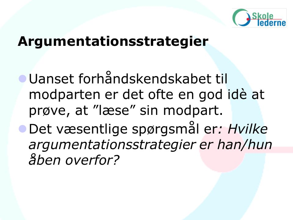 Argumentationsstrategier