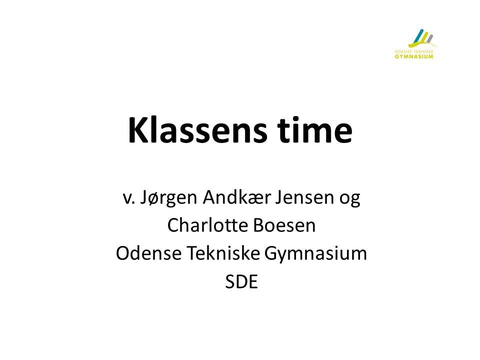 Klassens time v. Jørgen Andkær Jensen og Charlotte Boesen
