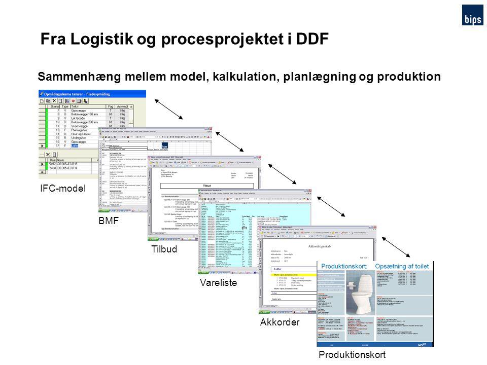 Fra Logistik og procesprojektet i DDF