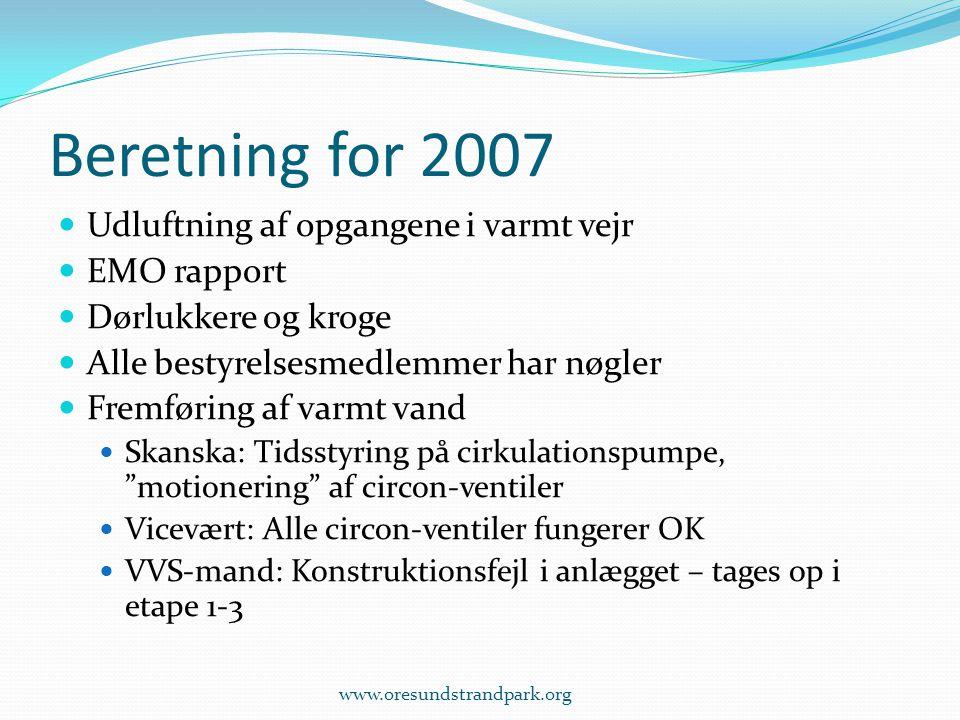 Beretning for 2007 Udluftning af opgangene i varmt vejr EMO rapport