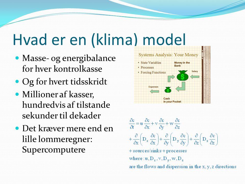Hvad er en (klima) model