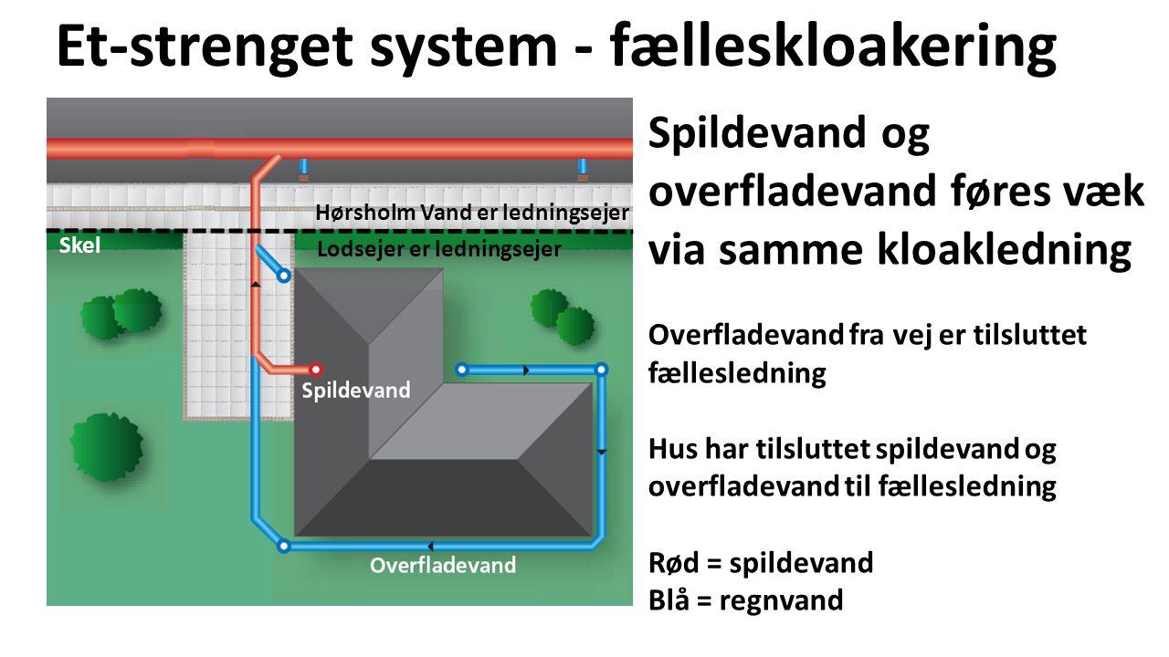Et-strenget system - fælleskloakering