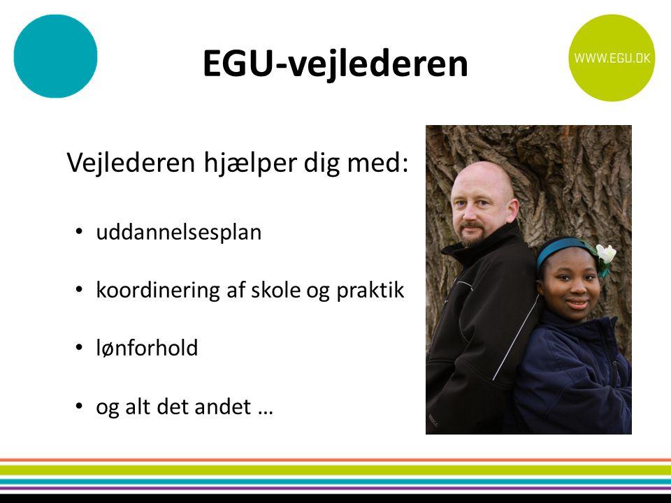 EGU-vejlederen Vejlederen hjælper dig med: uddannelsesplan