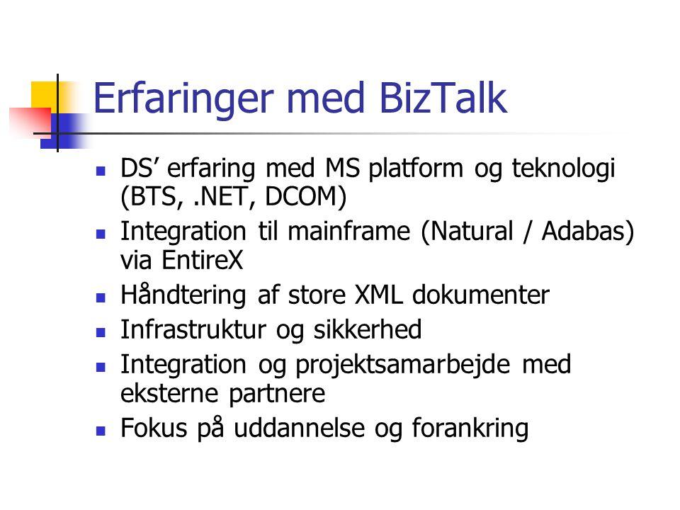 Erfaringer med BizTalk