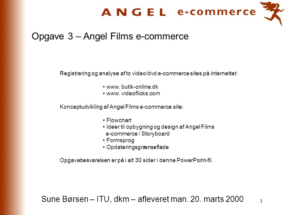 Opgave 3 – Angel Films e-commerce