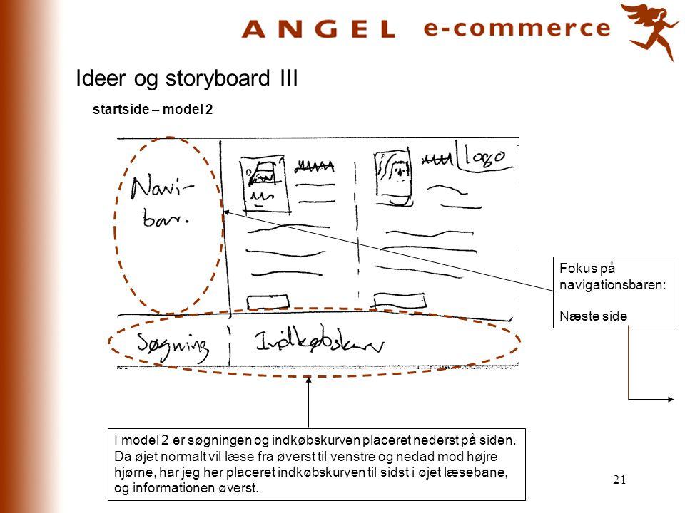 Ideer og storyboard III
