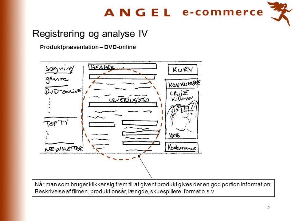 Registrering og analyse IV