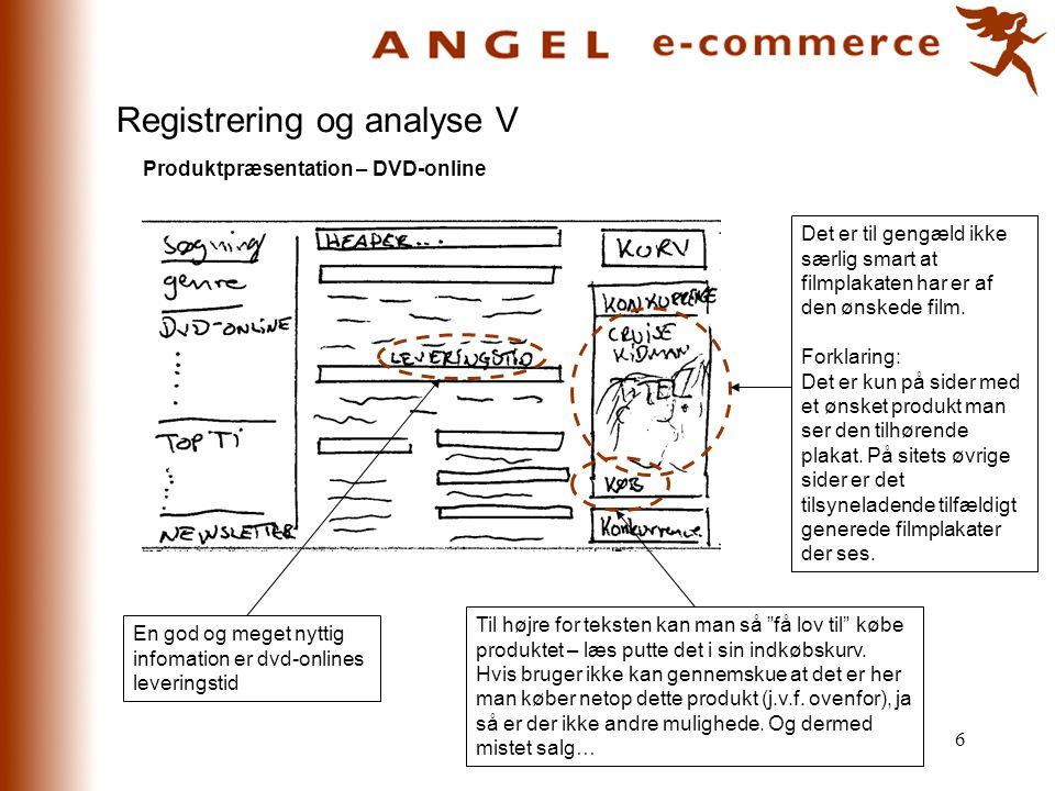 Registrering og analyse V