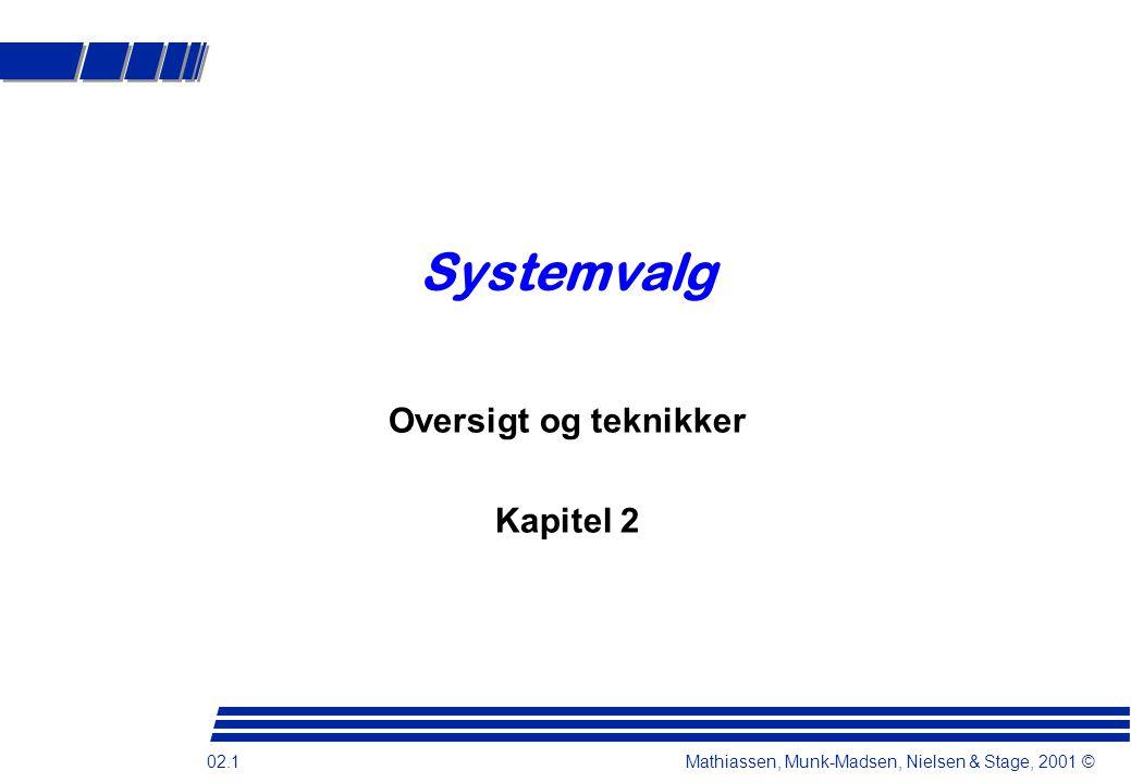 Systemvalg Oversigt og teknikker Kapitel 2