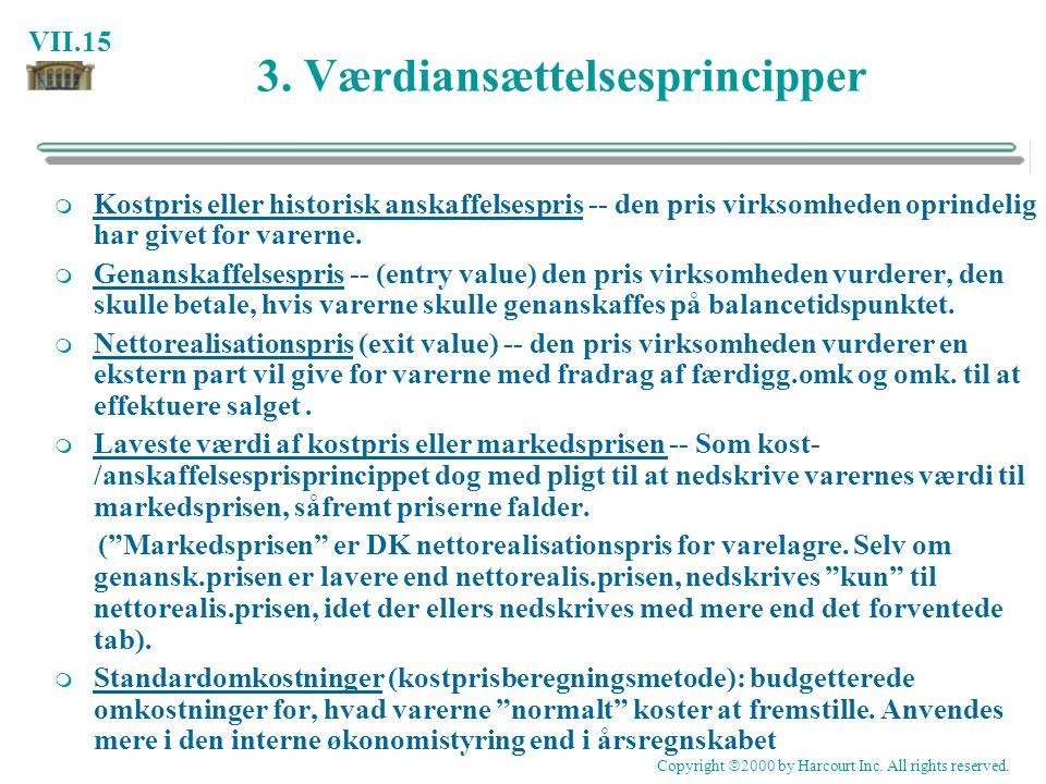 3. Værdiansættelsesprincipper