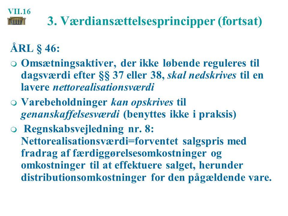 3. Værdiansættelsesprincipper (fortsat)