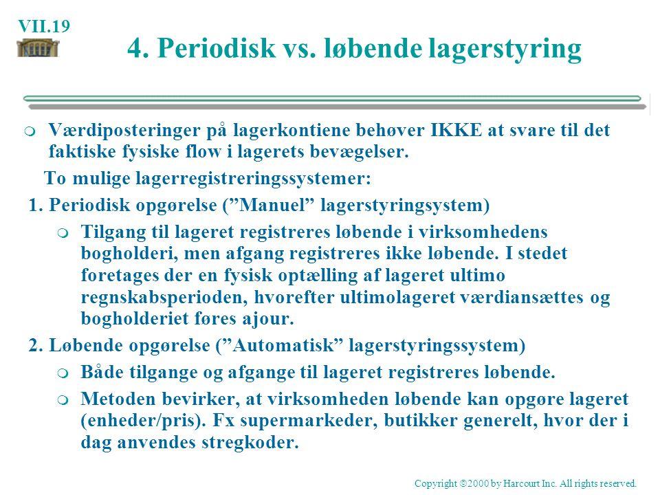4. Periodisk vs. løbende lagerstyring