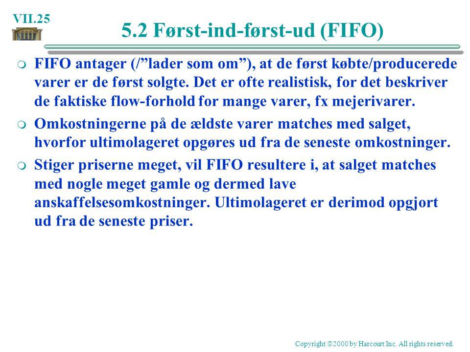 5.2 Først-ind-først-ud (FIFO)
