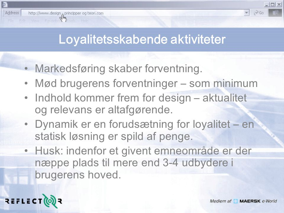Loyalitetsskabende aktiviteter