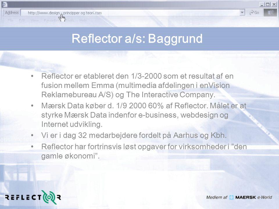 Reflector a/s: Baggrund