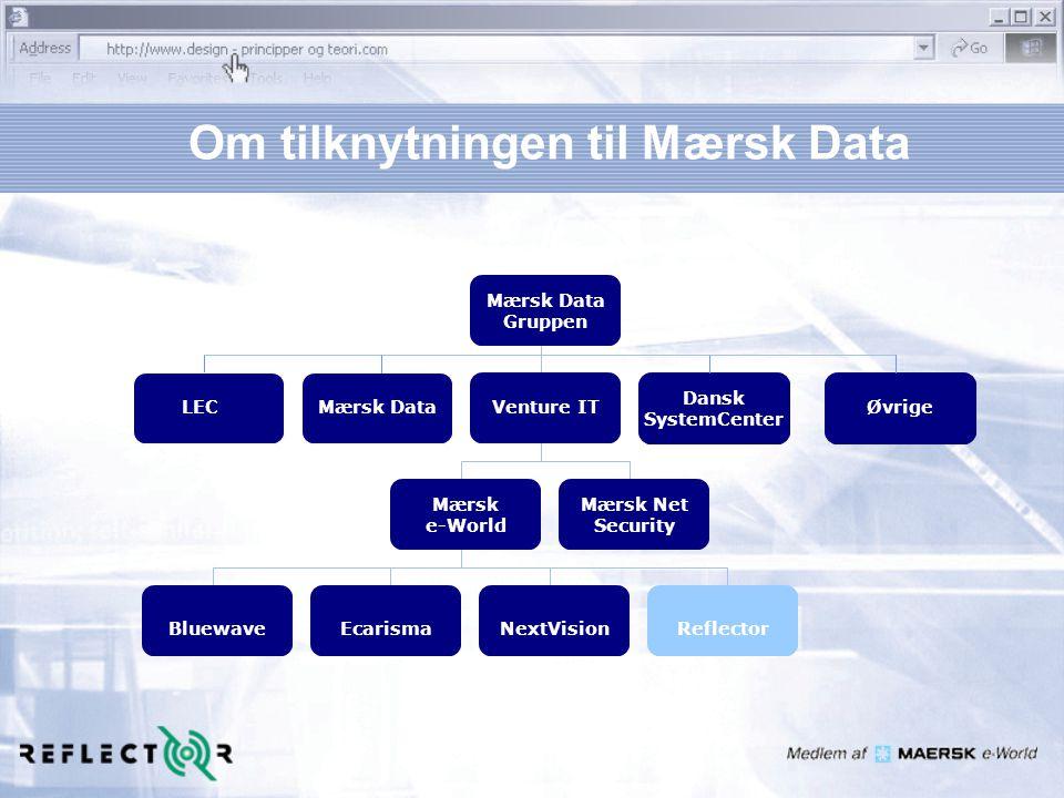 Om tilknytningen til Mærsk Data