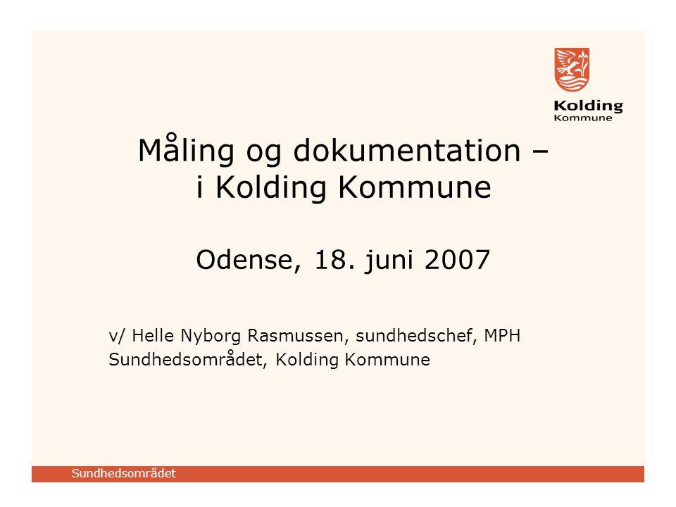 Måling og dokumentation – i Kolding Kommune Odense, 18. juni 2007