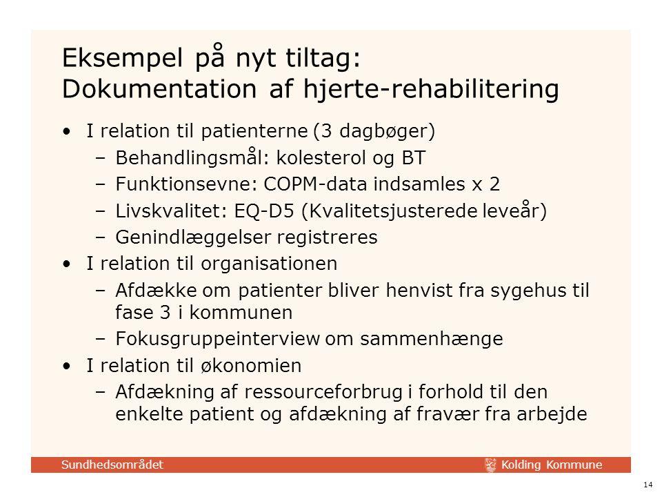 Eksempel på nyt tiltag: Dokumentation af hjerte-rehabilitering