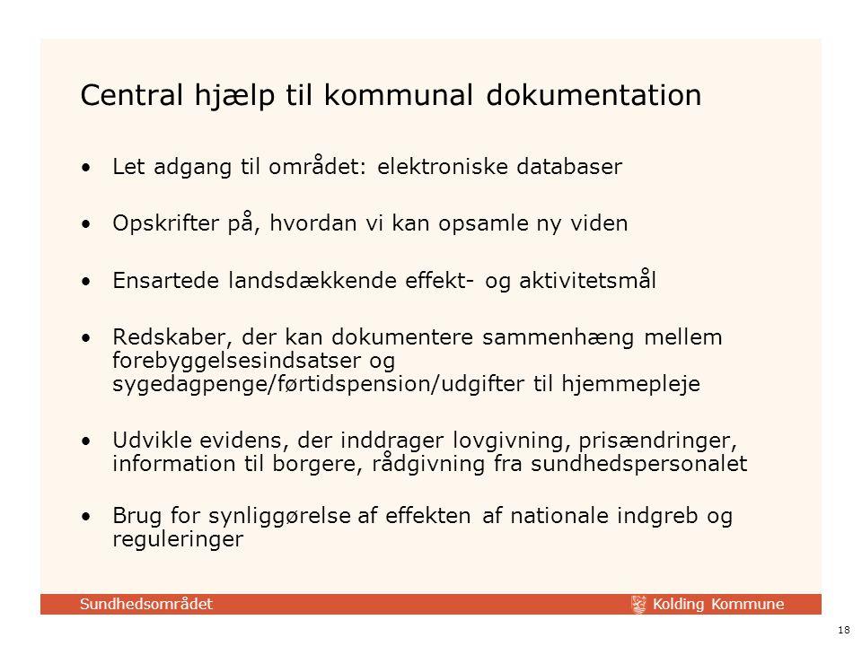Central hjælp til kommunal dokumentation