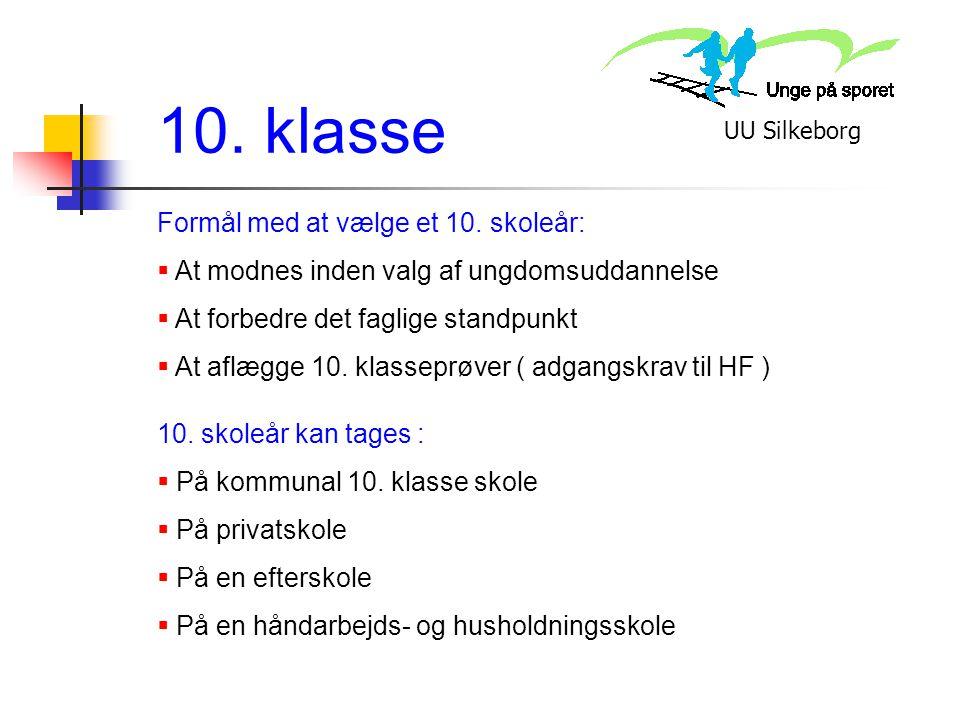 10. klasse Formål med at vælge et 10. skoleår:
