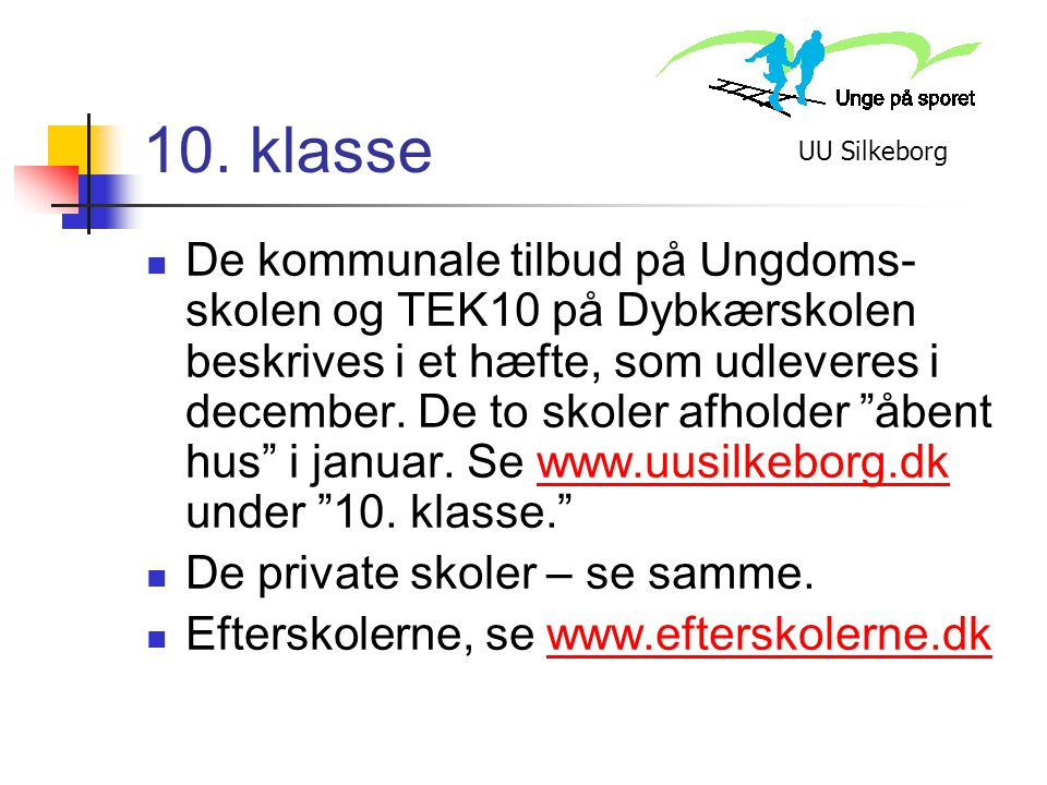 10. klasse UU Silkeborg.
