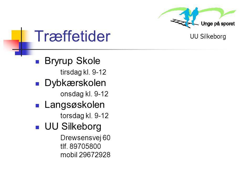 Træffetider Bryrup Skole Dybkærskolen Langsøskolen UU Silkeborg
