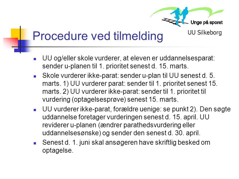 Procedure ved tilmelding
