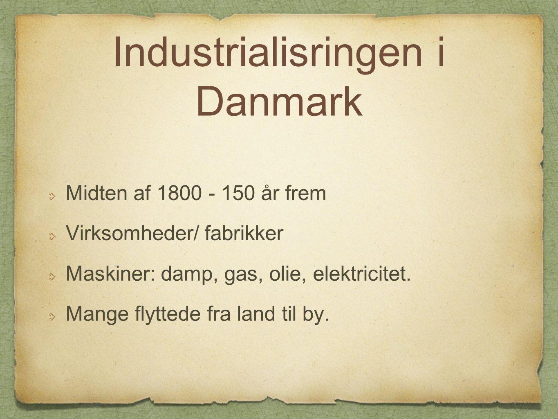 Industrialisringen i Danmark
