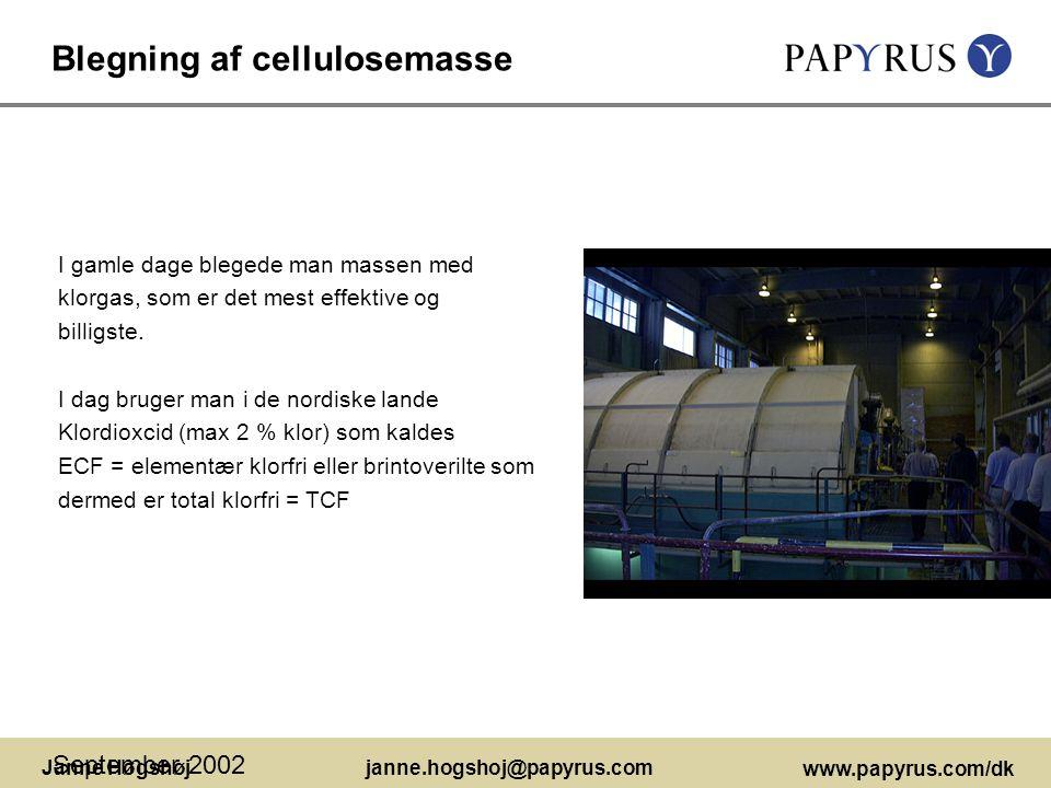 Blegning af cellulosemasse