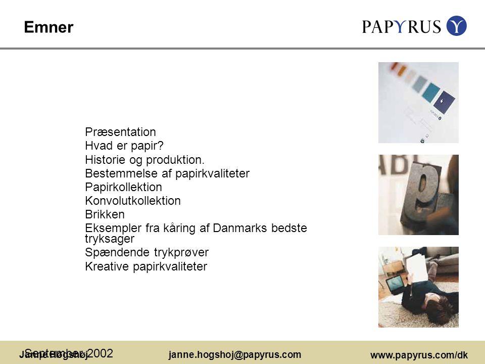 Emner Præsentation Hvad er papir Historie og produktion.