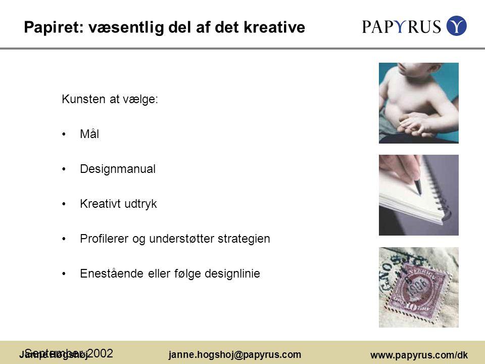 Papiret: væsentlig del af det kreative