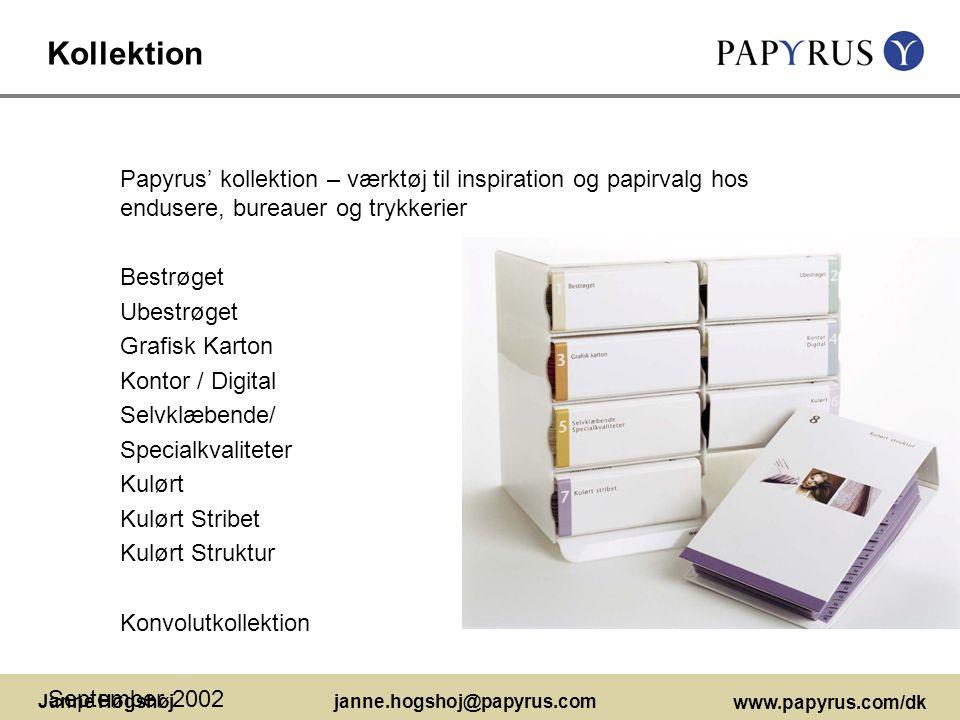 Kollektion Papyrus' kollektion – værktøj til inspiration og papirvalg hos endusere, bureauer og trykkerier.