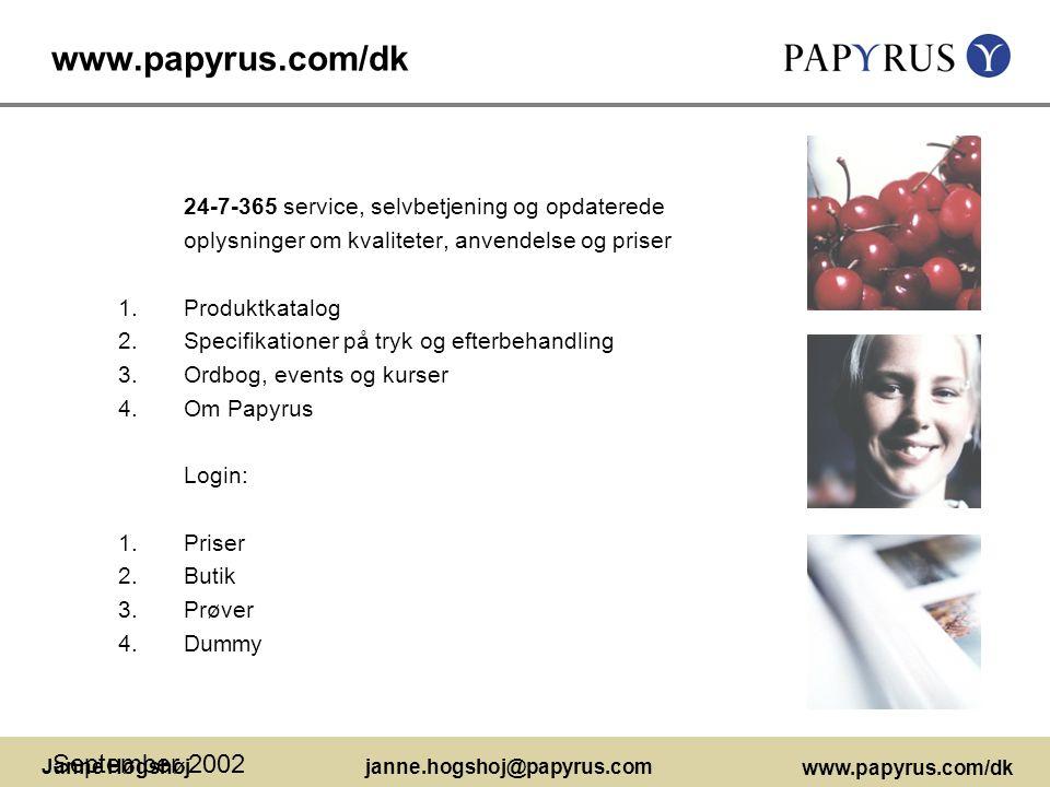 www.papyrus.com/dk September 2002