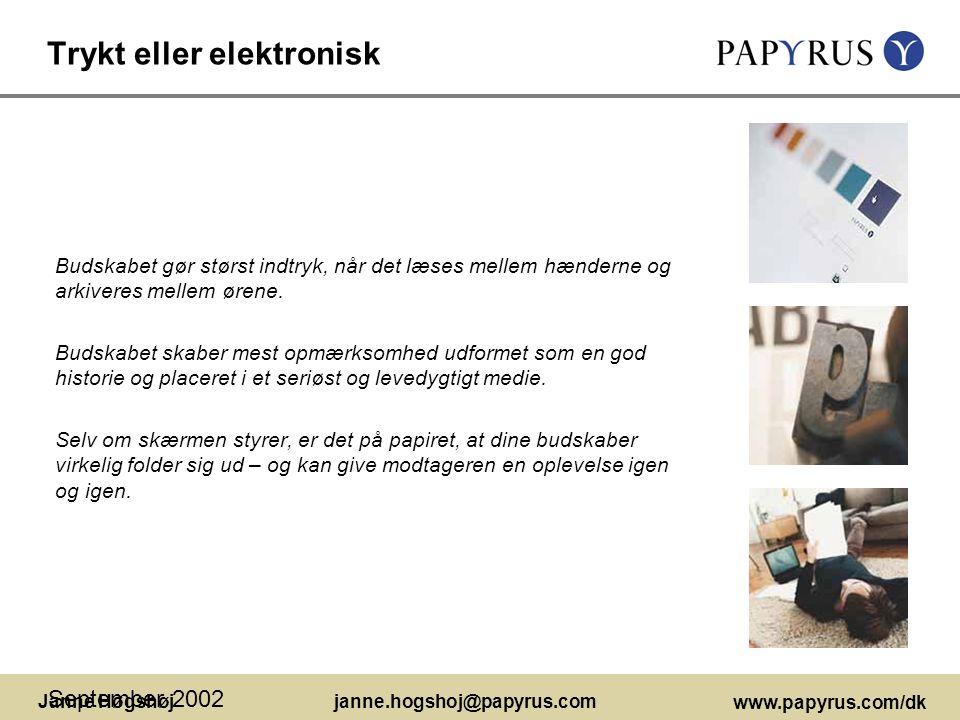 Trykt eller elektronisk