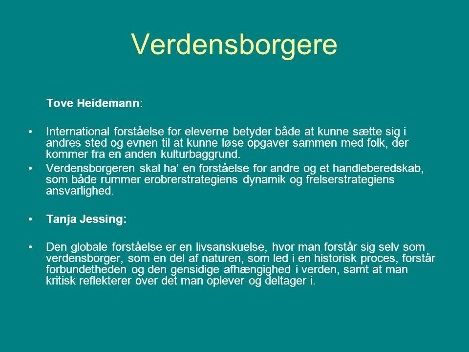 Verdensborgere Tove Heidemann: