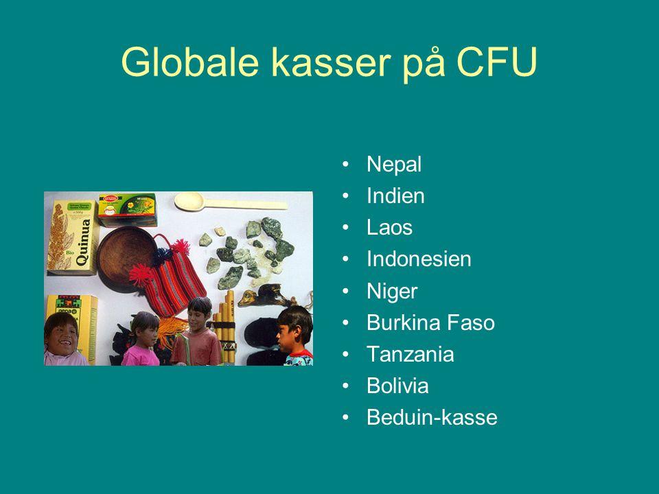 Globale kasser på CFU Nepal Indien Laos Indonesien Niger Burkina Faso