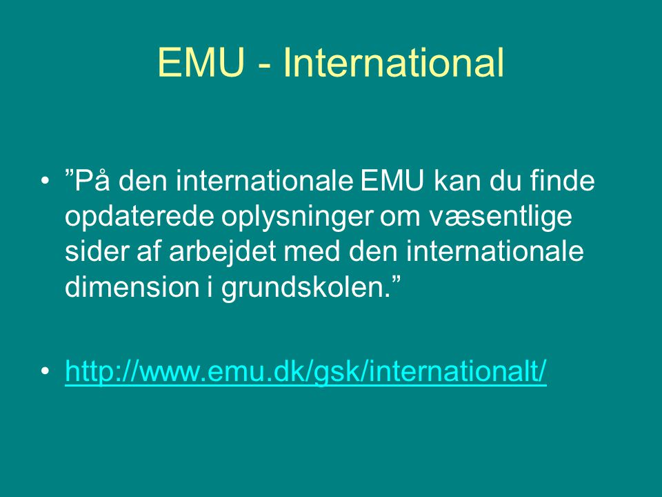 EMU - International