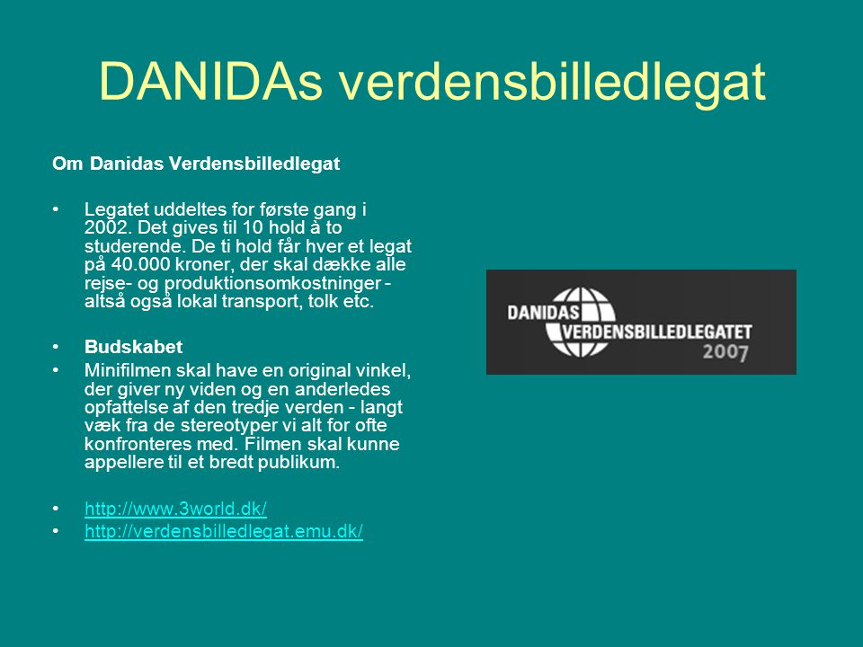 DANIDAs verdensbilledlegat
