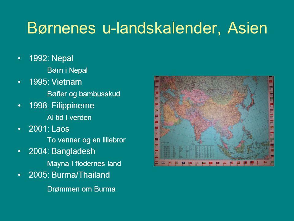 Børnenes u-landskalender, Asien