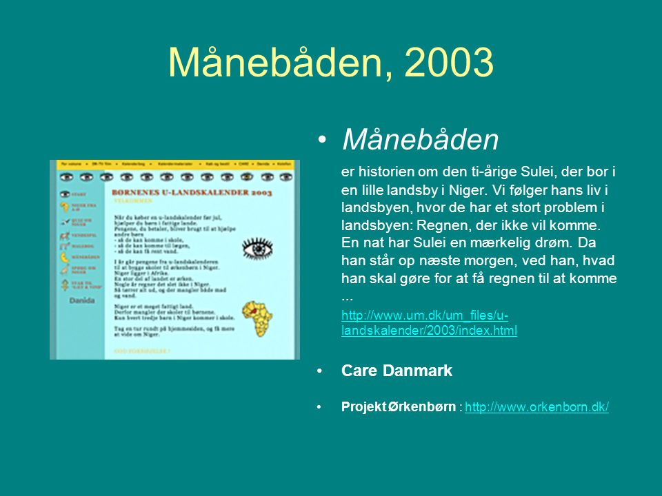 Månebåden, 2003 Månebåden.
