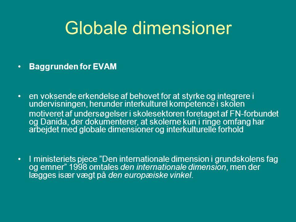 Globale dimensioner Baggrunden for EVAM