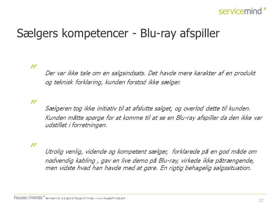 Sælgers kompetencer - Blu-ray afspiller