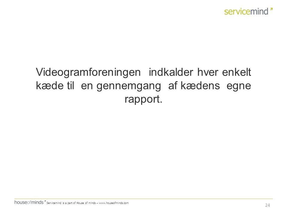 Videogramforeningen indkalder hver enkelt kæde til en gennemgang af kædens egne rapport.