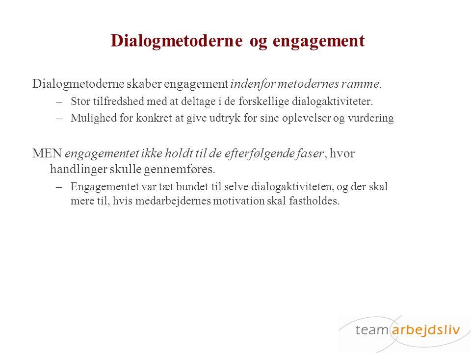 Dialogmetoderne og engagement