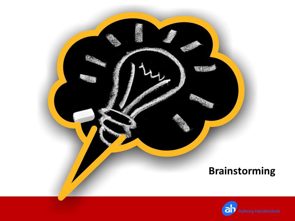 Brainstorming Ideer: I skal nu i gang med selv at få en god idé