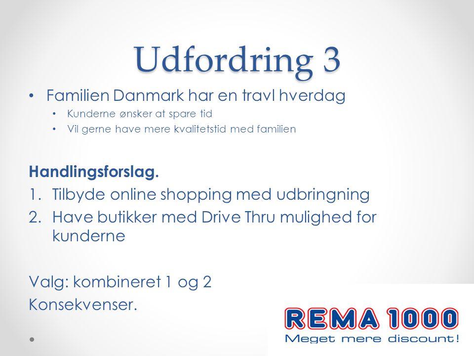 Udfordring 3 Familien Danmark har en travl hverdag Handlingsforslag.