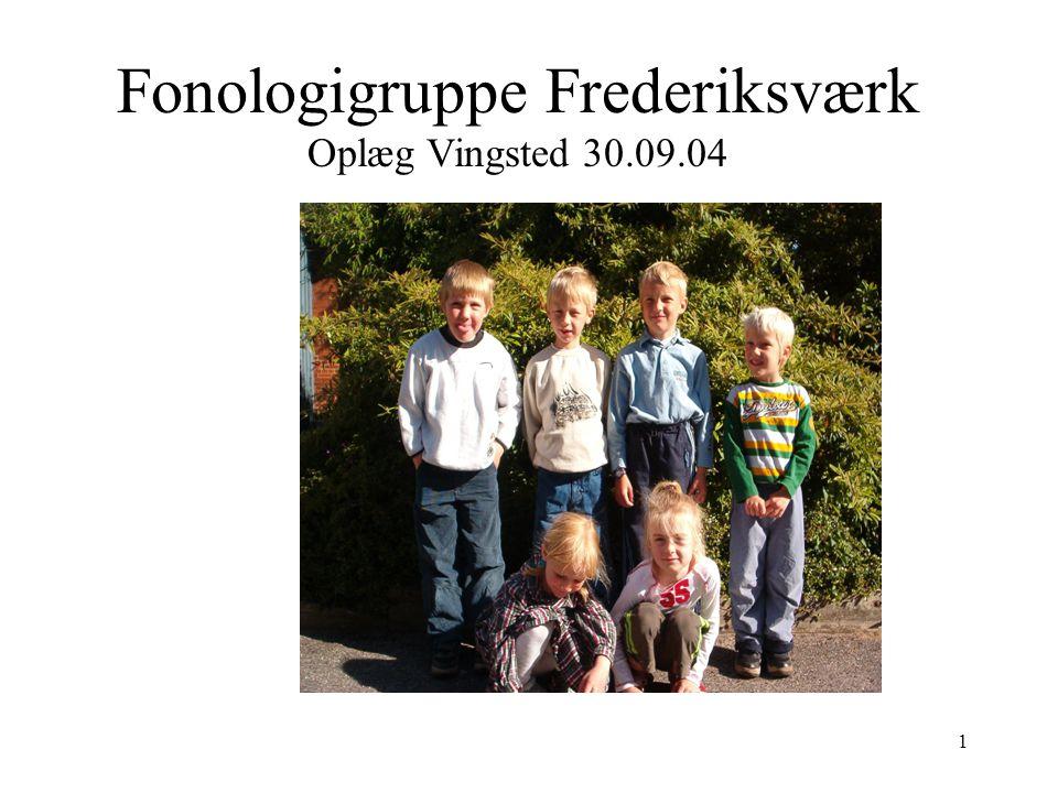 Fonologigruppe Frederiksværk Oplæg Vingsted 30.09.04