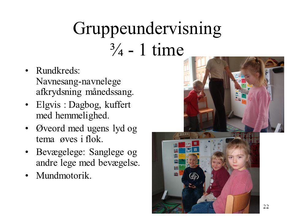 Gruppeundervisning ¾ - 1 time