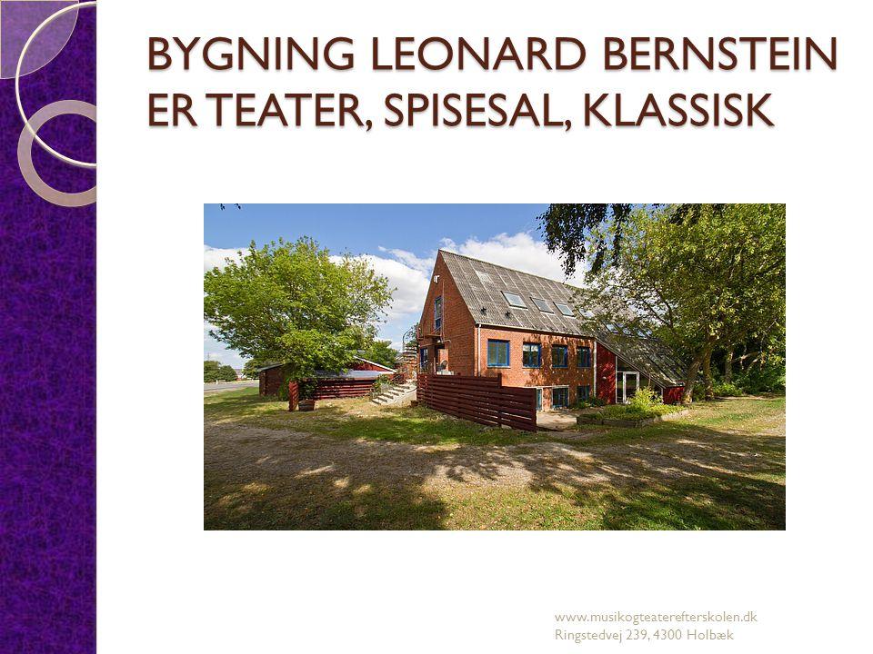 BYGNING LEONARD BERNSTEIN ER TEATER, SPISESAL, KLASSISK